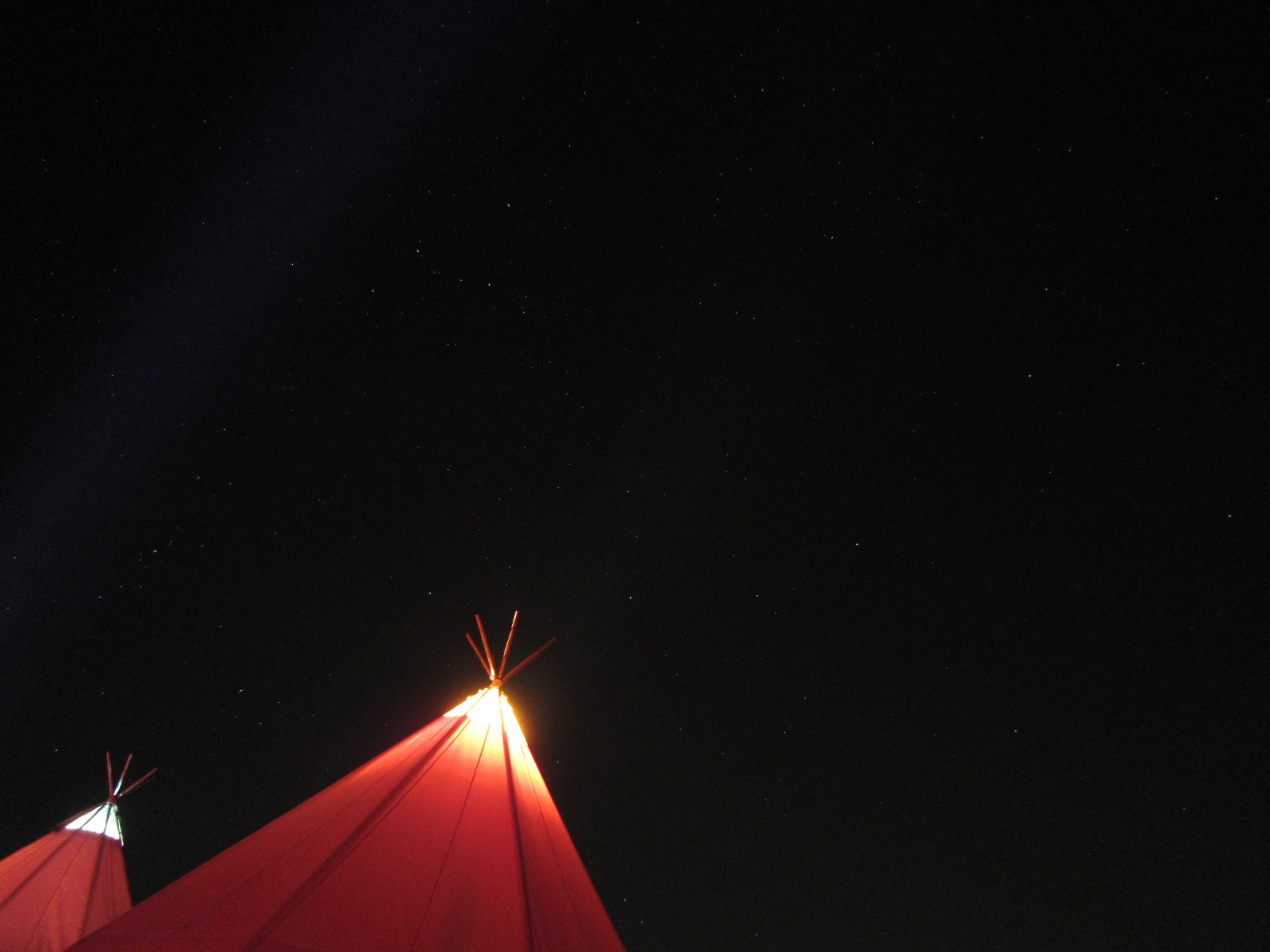 Two Tipis and the Stars