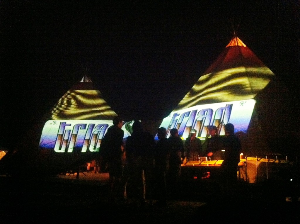 visuals on tent